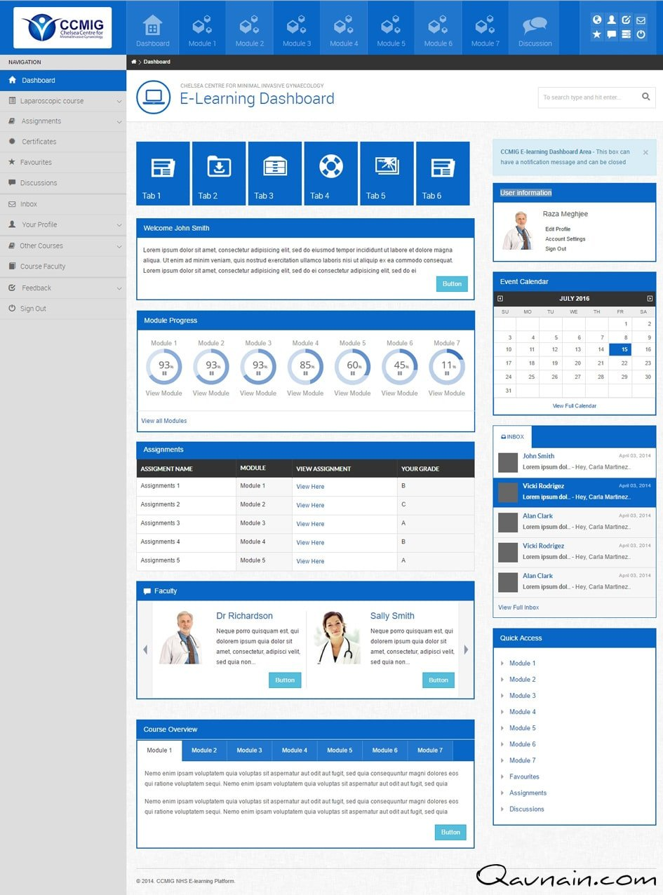 NHS – SaaS Product – Dashboard Prototype