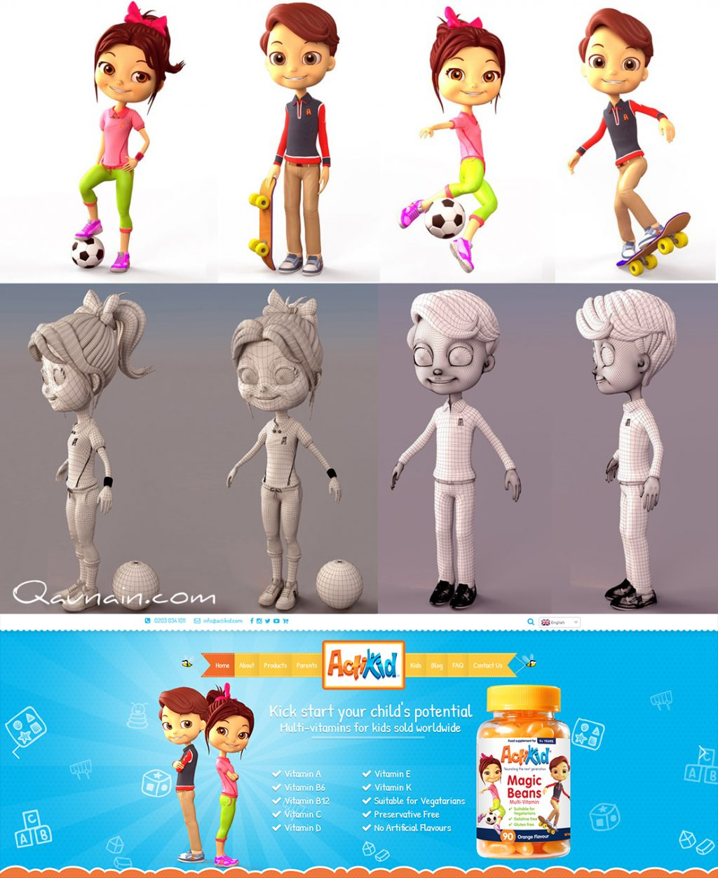 3D Characters for eCommerce