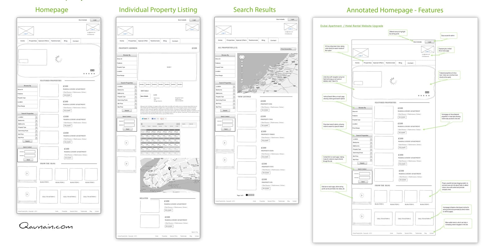Property Marketplace – Wireframes and Website